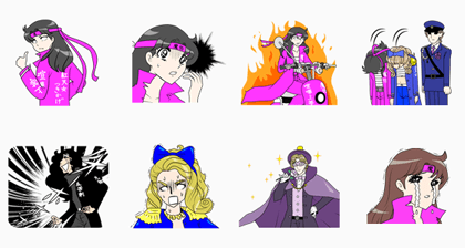 It's Glass Mask But (Glass no Kamen Desu ga) Line Sticker GIF & PNG Pack: Animated & Transparent No Background | WhatsApp Sticker