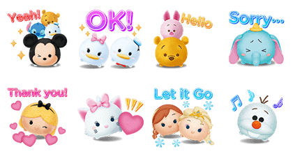 LINE: Disney TsumTsum Line Sticker GIF & PNG Pack: Animated & Transparent No Background | WhatsApp Sticker