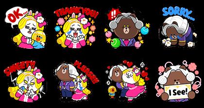 LINE POPChocolat: Aristocratic Ardor Line Sticker GIF & PNG Pack: Animated & Transparent No Background | WhatsApp Sticker