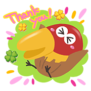 LINE POPchocolat x Kyoro-chan Sticker for LINE & WhatsApp | ZIP: GIF & PNG