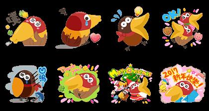 LINE POPchocolat x Kyoro-chan Line Sticker GIF & PNG Pack: Animated & Transparent No Background | WhatsApp Sticker