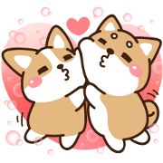 Love You: Shibasays Sticker for LINE & WhatsApp | ZIP: GIF & PNG