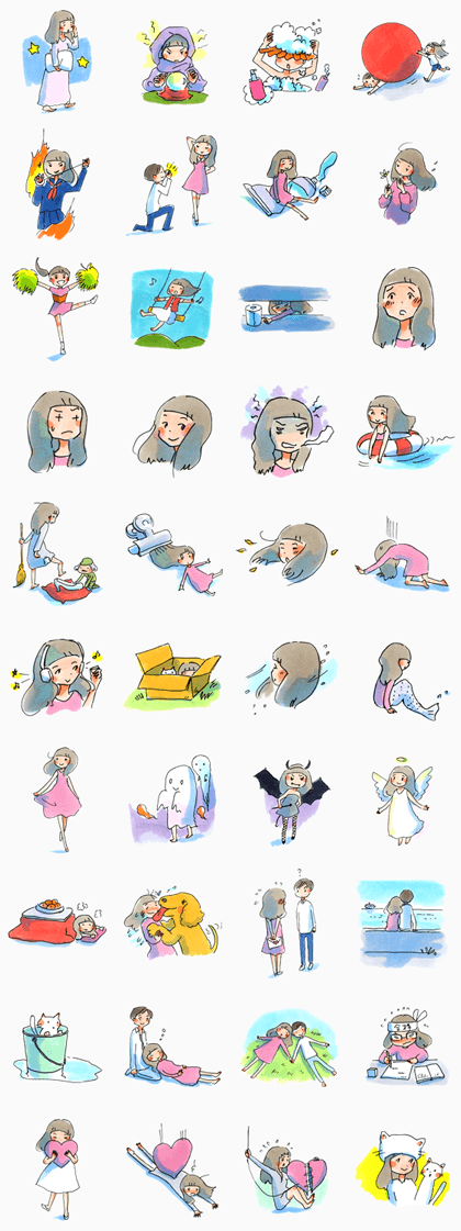 MIMEYURUMUMEKO Line Sticker GIF & PNG Pack: Animated & Transparent No Background | WhatsApp Sticker