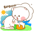 Mhee Noom & Tai Nim Sticker for LINE & WhatsApp | ZIP: GIF & PNG
