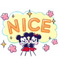 Mickey and Friends Large Letters Sticker for LINE & WhatsApp | ZIP: GIF & PNG