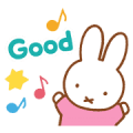 Miffy's Animated Pastel Stickers Sticker for LINE & WhatsApp | ZIP: GIF & PNG