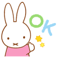 Miffy's Pastel Messages Sticker for LINE & WhatsApp | ZIP: GIF & PNG