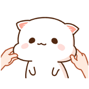 Mochi Mochi Peach Cat Sticker for LINE & WhatsApp | ZIP: GIF & PNG