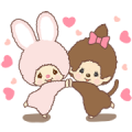 Monchhichi-chan and Chimutan Sticker for LINE & WhatsApp | ZIP: GIF & PNG