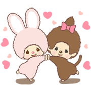 Monchhichi-chan and Chimutan Sticker for LINE & WhatsApp | ZIP: GIF & PNG