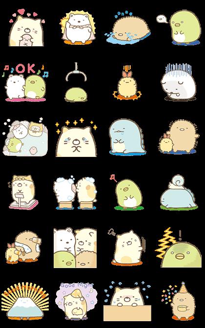 Moving Sumikko Gurashi Line Sticker GIF & PNG Pack: Animated & Transparent No Background | WhatsApp Sticker