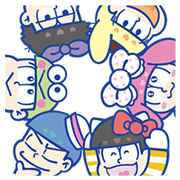 Mr.Osomatsu × SANRIO CHARACTERS Sticker for LINE & WhatsApp | ZIP: GIF & PNG