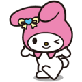 My Melody Sticker for LINE & WhatsApp | ZIP: GIF & PNG