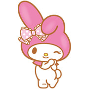 My Melody (Lovely Days ver.) Sticker for LINE & WhatsApp | ZIP: GIF & PNG