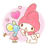 My Melody: Sweet Story Sticker for LINE & WhatsApp | ZIP: GIF & PNG