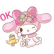My Melody: Too Cute for You! Sticker for LINE & WhatsApp | ZIP: GIF & PNG