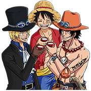 ONE PIECE THIRD SERIES Sticker for LINE & WhatsApp | ZIP: GIF & PNG