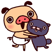 PANPAKA PANTS - Animated Stickers Sticker for LINE & WhatsApp | ZIP: GIF & PNG