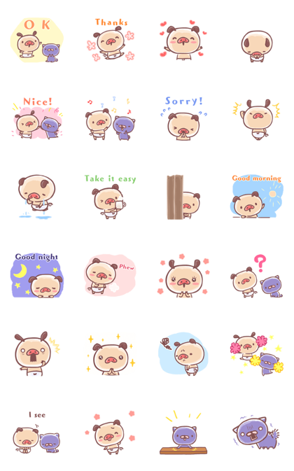 PANPAKA PANTS: Soft & Fluffy Days Line Sticker GIF & PNG Pack: Animated & Transparent No Background | WhatsApp Sticker