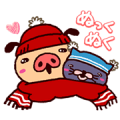 PANPAKA PANTS: Winter Dance Sticker for LINE & WhatsApp | ZIP: GIF & PNG