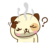 Panda Dog Sticker for LINE & WhatsApp | ZIP: GIF & PNG
