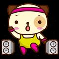 Panda Dog Animated Stickers