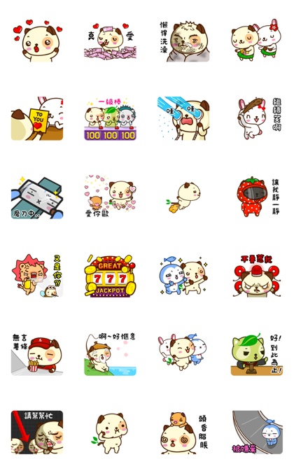 Panda Dog Animated Stickers (ver. 1) Line Sticker GIF & PNG Pack: Animated & Transparent No Background | WhatsApp Sticker