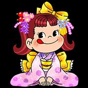 Pecotail Peko-chan's Stickers Sticker for LINE & WhatsApp | ZIP: GIF & PNG