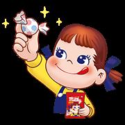 Peko's Milky Melody Stickers Sticker for LINE & WhatsApp | ZIP: GIF & PNG