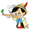 Pinocchio Sticker for LINE & WhatsApp | ZIP: GIF & PNG