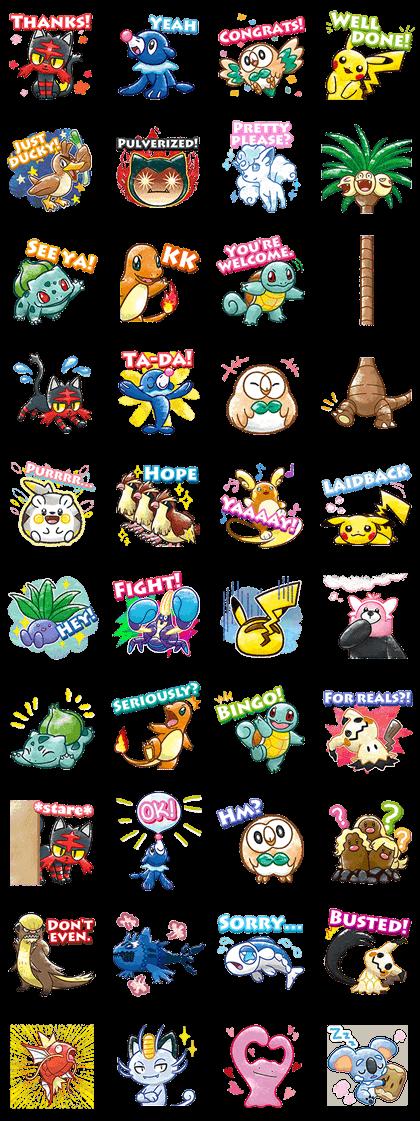 Pokémon Chat Pals Line Sticker GIF & PNG Pack: Animated & Transparent No Background | WhatsApp Sticker