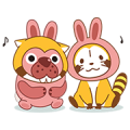 PokoPoko & Rascal Tie-Up Stickers!
