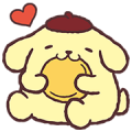 Pompompurin Pop-Up Stickers Sticker for LINE & WhatsApp | ZIP: GIF & PNG