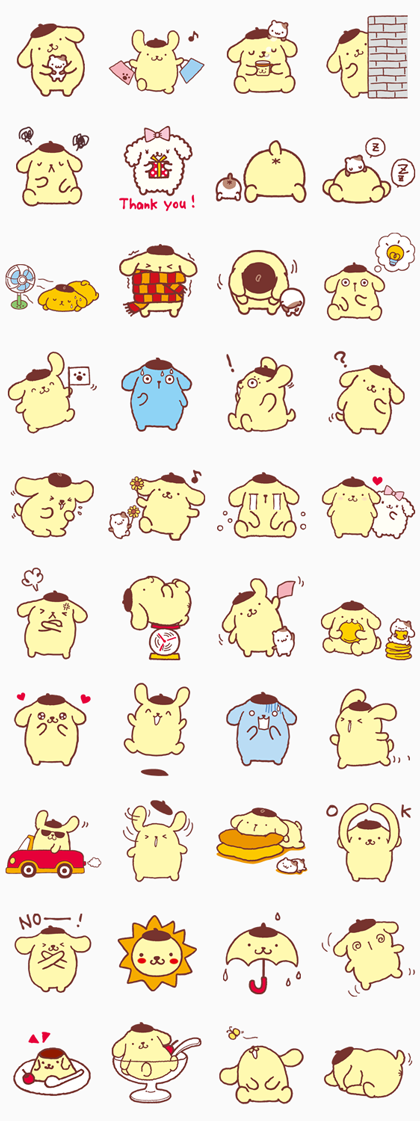 Pompompurin Line Sticker GIF & PNG Pack: Animated & Transparent No Background | WhatsApp Sticker