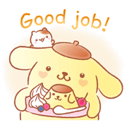 Pompompurin's Pastel Cuteness Sticker for LINE & WhatsApp | ZIP: GIF & PNG