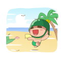 Powpowbing's Summer Sticker for LINE & WhatsApp | ZIP: GIF & PNG