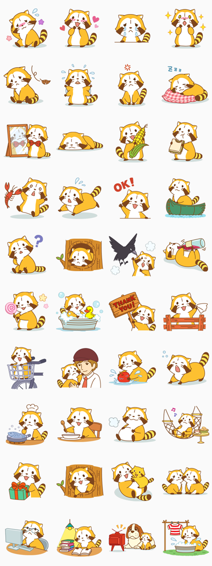 RASCAL Line Sticker GIF & PNG Pack: Animated & Transparent No Background | WhatsApp Sticker