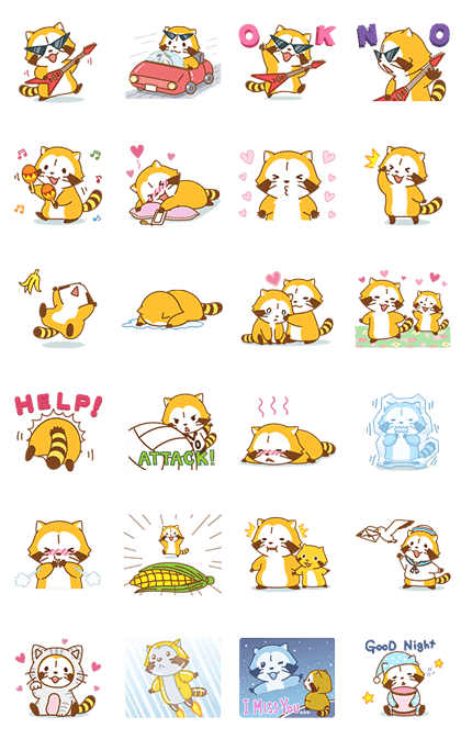 ROCK ♪ RASCAL Animated Stickers Line Sticker GIF & PNG Pack: Animated & Transparent No Background | WhatsApp Sticker