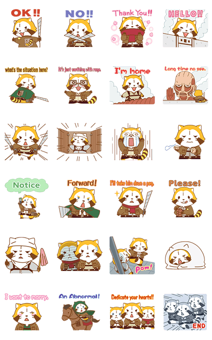 Rascal × Attack on Titan Line Sticker GIF & PNG Pack: Animated & Transparent No Background | WhatsApp Sticker