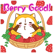 Rascal Fruity Feast Pop-Up Stickers Sticker for LINE & WhatsApp | ZIP: GIF & PNG