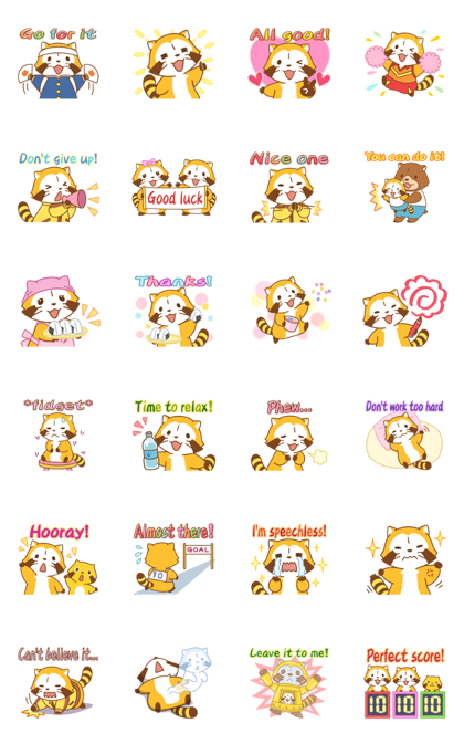 Rascal Supportive Stickers Line Sticker GIF & PNG Pack: Animated & Transparent No Background | WhatsApp Sticker