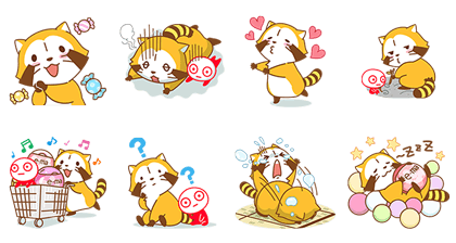 Rascal & UHA Boy's Colorful Days! Line Sticker GIF & PNG Pack: Animated & Transparent No Background | WhatsApp Sticker