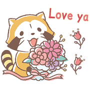 Rascal and Lily: Cordial Couple Sticker for LINE & WhatsApp | ZIP: GIF & PNG