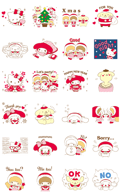 SANRIO CHARACTERS: Warm and Fluffy Line Sticker GIF & PNG Pack: Animated & Transparent No Background | WhatsApp Sticker