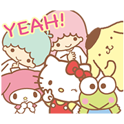 SANRIO: Happy Winter Sticker for LINE & WhatsApp | ZIP: GIF & PNG