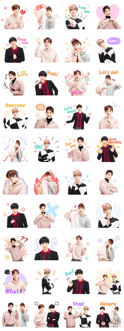 SHINee Special 2 Line Sticker GIF & PNG Pack: Animated & Transparent No Background | WhatsApp Sticker
