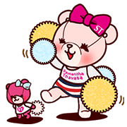 Samantha Thavasa: Animation Aimee Bear Sticker for LINE & WhatsApp | ZIP: GIF & PNG