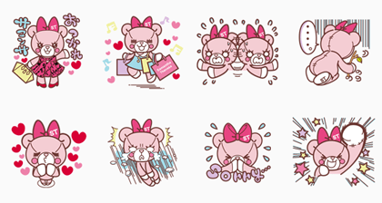 Samantha Thavasa Group Official Stickers Line Sticker GIF & PNG Pack: Animated & Transparent No Background | WhatsApp Sticker