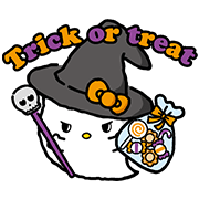 Sanrio Happy Ghost Town Sticker for LINE & WhatsApp | ZIP: GIF & PNG