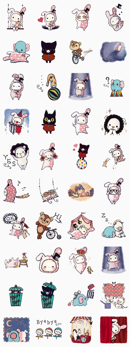 Sentimental Circus. Line Sticker GIF & PNG Pack: Animated & Transparent No Background | WhatsApp Sticker